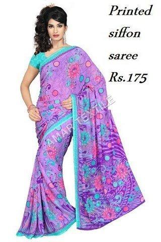 Printed Shiffon Sarees for women