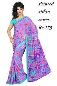 Printed Shiffon Sarees for women