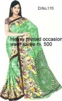 fancy siffon sarees