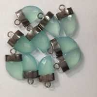 Treated Aqua Chalsydony Horn Gemstone