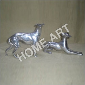 Aluminium Greyhound Dog Pair Statue