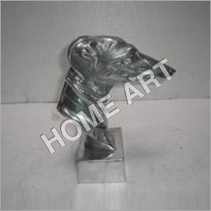 Aluminium Dog Head Statue