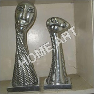 Abstract Aluminum Sculpture Pair
