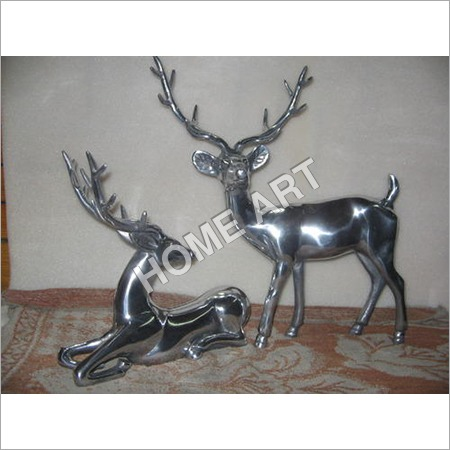 Metal Deer Pair