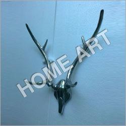 Aluminium Stag Head Skull