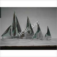 Decorative Metal Boats Yacht Set