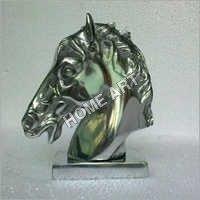 Aluminium Horse Head Statue