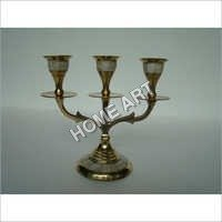 Brass MOP Candle Holder