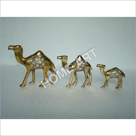 Brass MOP Camel Set of 3