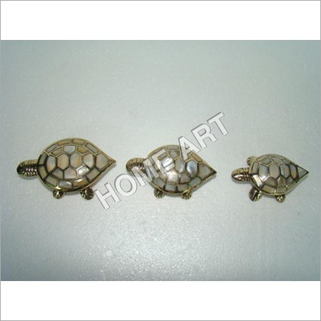Brass MOP Turtle Trinket Box