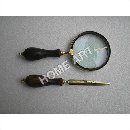 Letter Opener And Stylish Magnifying Glass Set