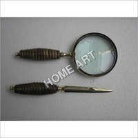 Beutiful Letter Opener Magnifying Glass Set