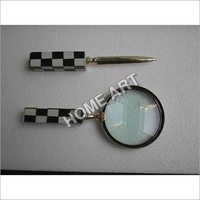 Decorative Letter Opener Magnifying Glass Set
