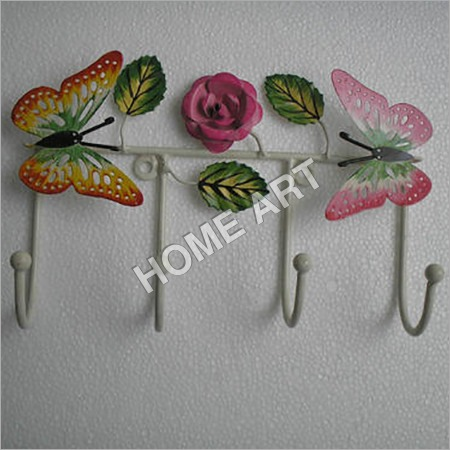 Rose and Butterfly Iron Wall Hooks