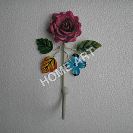 Single Rose Iron Wall Hooks