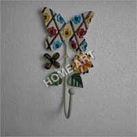 Beautiful Single Butterfly Iron Wall Hooks