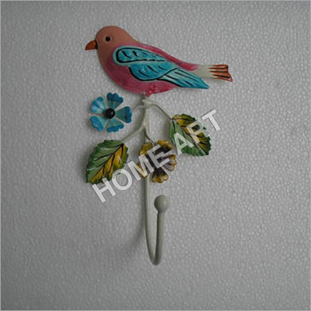 Single Bird Iron Wall Hook