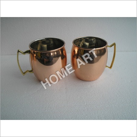 Solid Copper Moscow Mule Smooth Mug Hammered 16 Oz