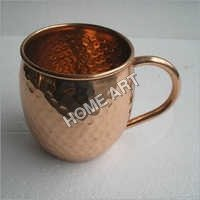 Solid copper Moscow Mule  Mug Hammered 16 Oz