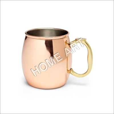 Solid Copper Moscow Mule Stylish Smooth 16 Oz