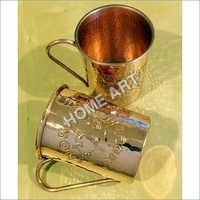 Solid copper Mule Designer Mug Engraved 16 Oz