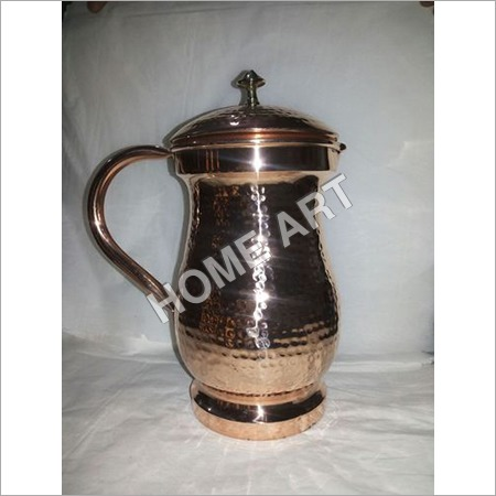 Copper Water Jug With Lid