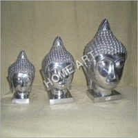 Buddha Head Set Sculptures