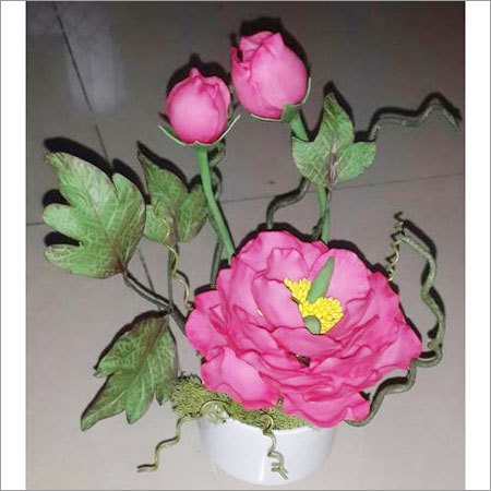 Artificial Rose Flower Pot