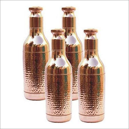 Hammered Designer Copper Bottle