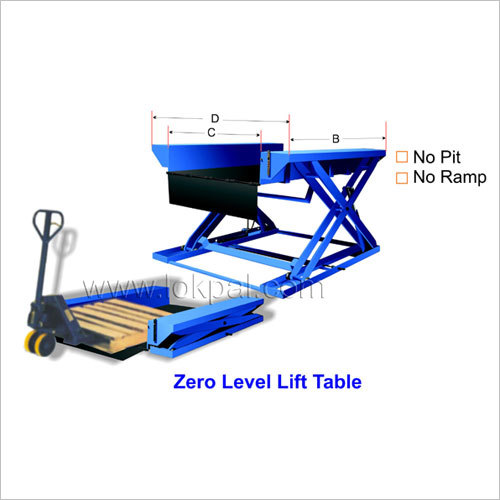 Zero Level Lift Table