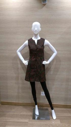 BROWN COTTON SHIRT DRESS