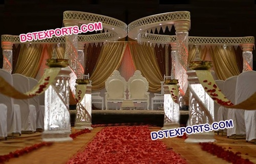 Gorgeous Crystal Butterfly Mandap