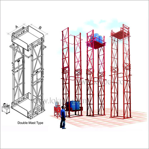 Wall Mounted Stacker Double Mast