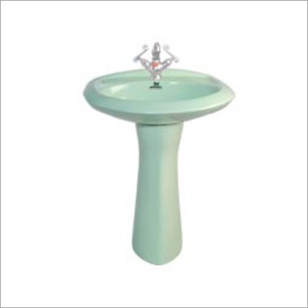 Ceramic Colorful Pedestal Wash Basin