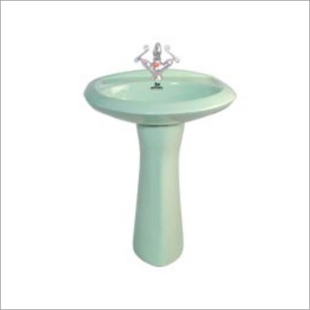 Ceramic Colorful Pedestal Wash Basin