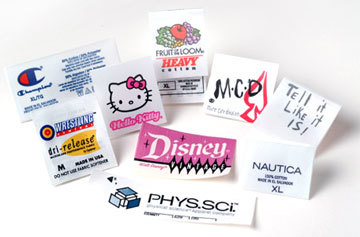 Printed Fabric Labels