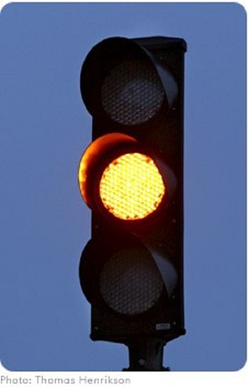 Yellow Traffic Light Signal Blinker