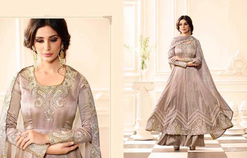 Raw Silk Fancy Salwar Kameez
