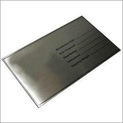 Metallic Name Plate
