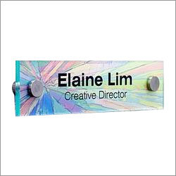 Acrylic Glass Name Plate