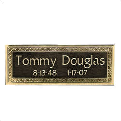 Brass Engraving Name Plate