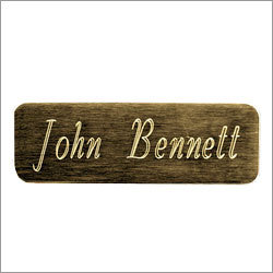 Metal Engraving Name Plate
