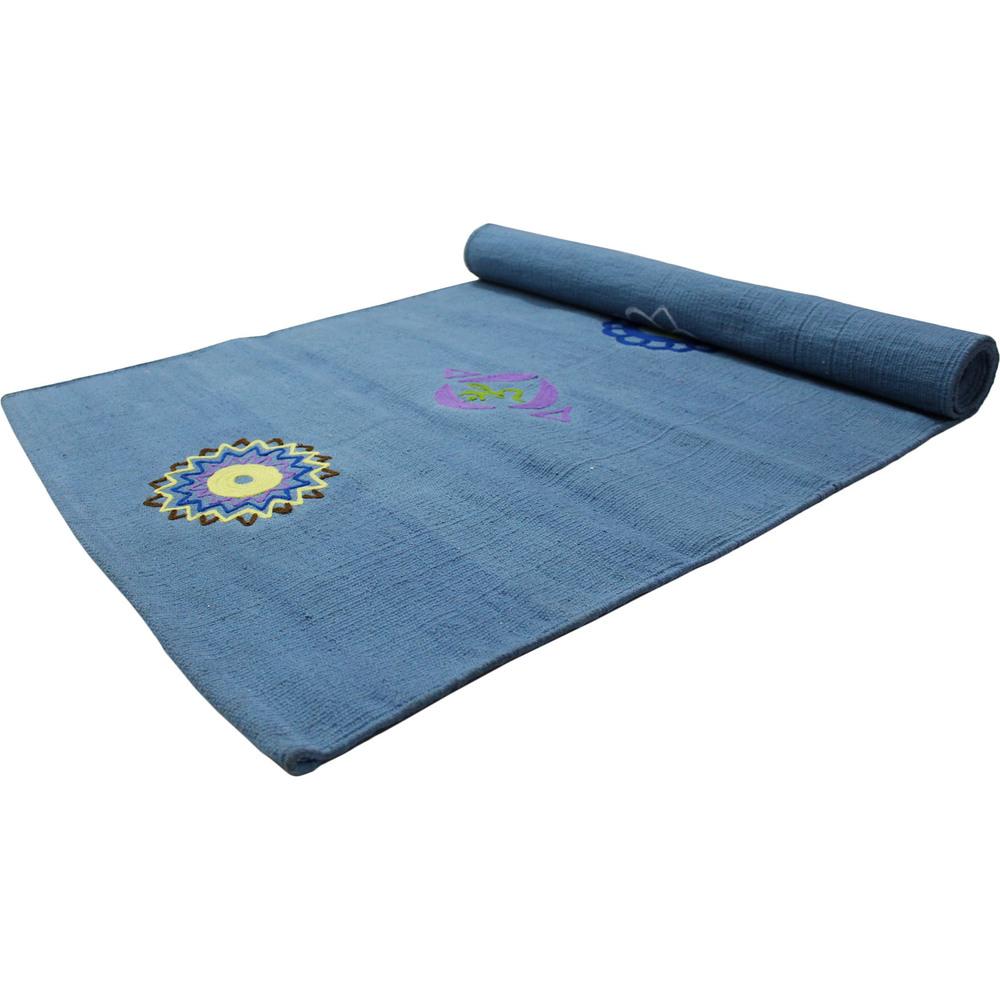 Yoga Rug/ Mat 7 Chakra Embroidery