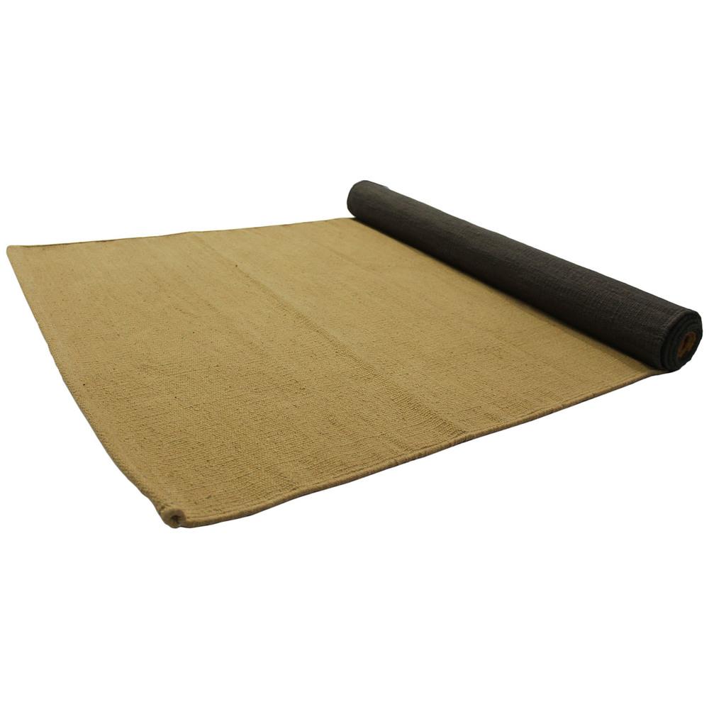 Yoga Rug/ Mat Grey & Beige Stripe