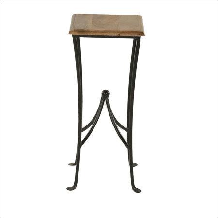 Antique bar square stool