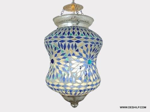 Mosaic Glass Hanging Lamp Lamps