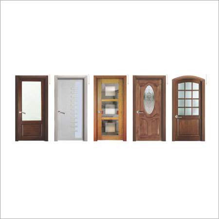 Solid Wooden Doors With Glass