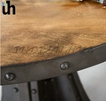 Wooden Industrial Round Table