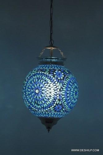 Handmade Mosaic Hanging Lamps For Housewarming Shaped