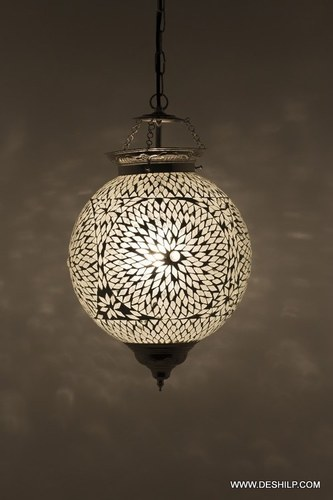 Glass Hanging Lanterns Lamps Mosaic Lights Handcrafted Handcrafted Multicoloured